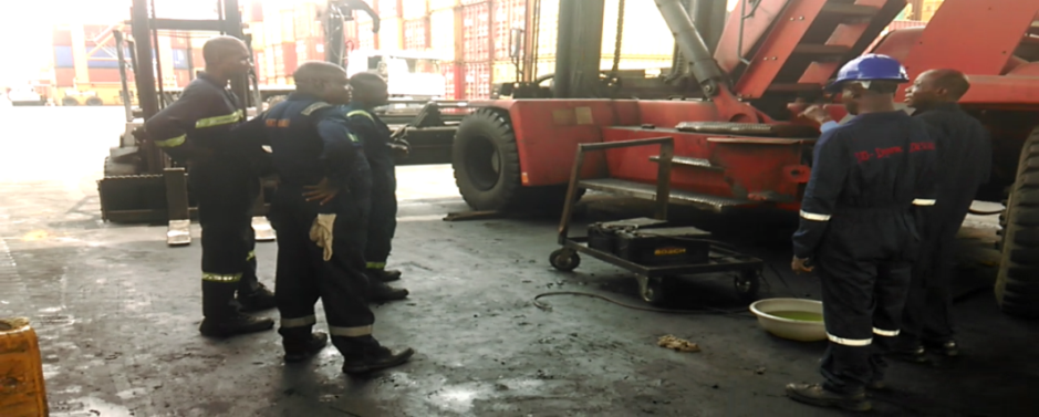 DESCALING A KALMAR EMPTY HANDLER ENGINE WITH BIO - DYNAMIC DESCALER AT SIFAX PORTS & CARGO HANDLING SERVICES LTD