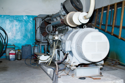 diesel generator providing emergent power service